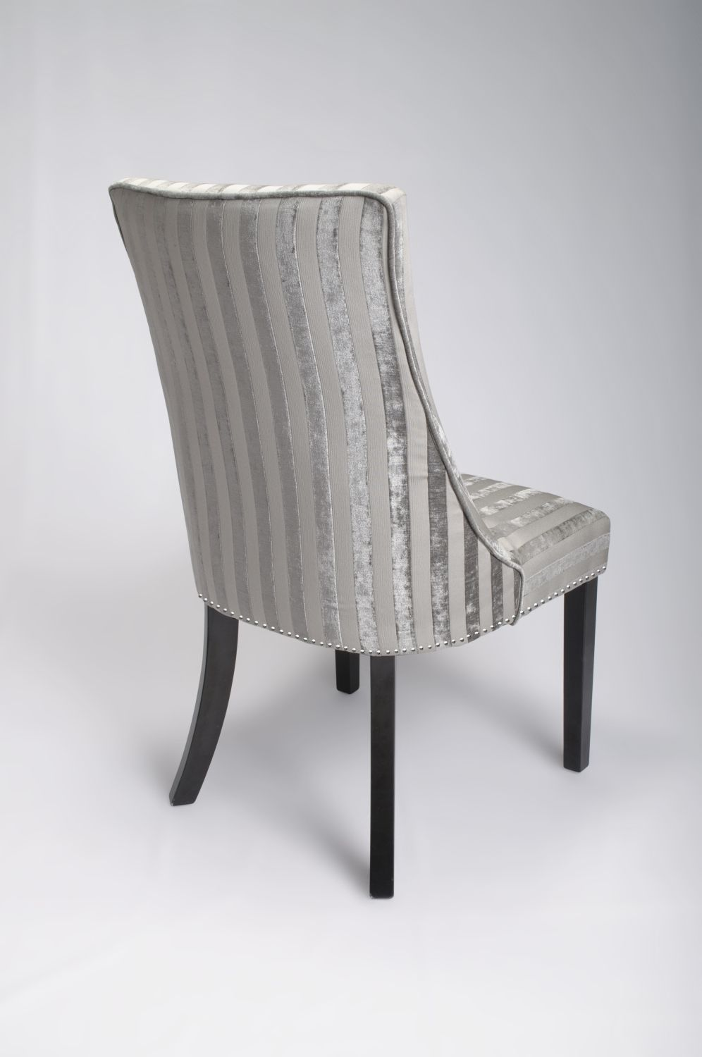 Pair Of Balmoral Velvet Stripe Mink Dining Chairs With  : pair of balmoral velvet stripe mink dining chairs with dark wooden legs 2 51981 p from www.uniquechicfurniture.co.uk size 996 x 1500 jpeg 82kB